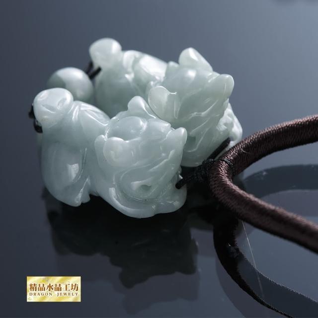 【精品水晶工坊】招財富貴翠玉貔貅項鍊