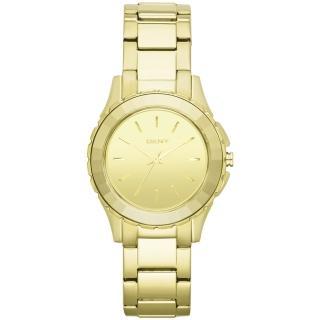 【DKNY】百老匯女時尚都會腕錶(鏡面金 NY2116)
