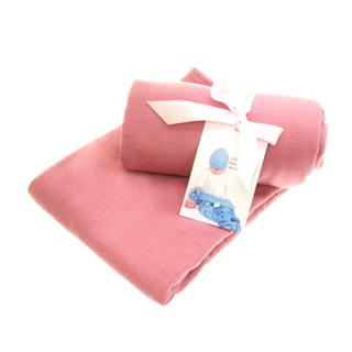 【紐西蘭Baby Love Merino】美麗諾羊毛嬰兒包巾/隨身被巾單件組(玫瑰粉紅)