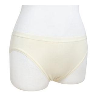 【和諧生活有機棉】仕女中腰高叉內褲(2入 原棉米白色)