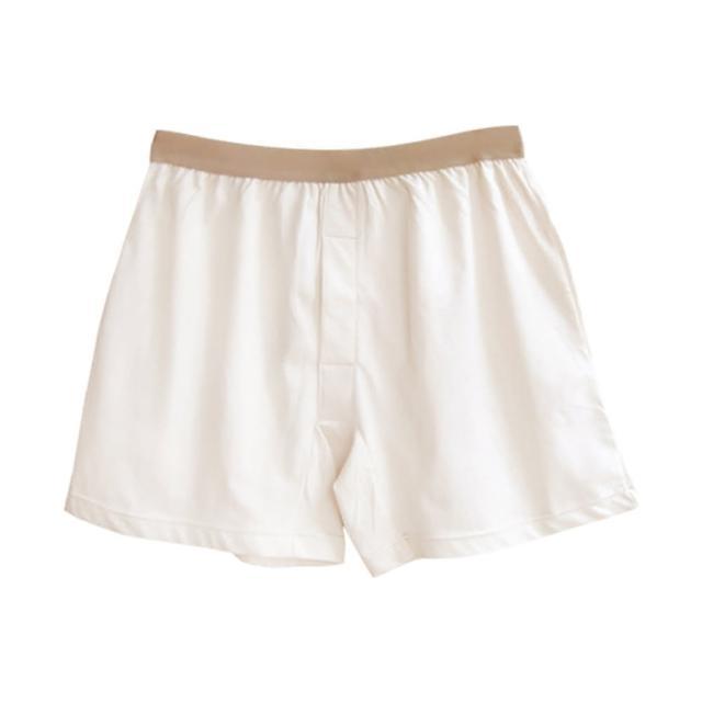 【和諧生活有機棉】紳士舒棉平口內褲(原棉米白色)