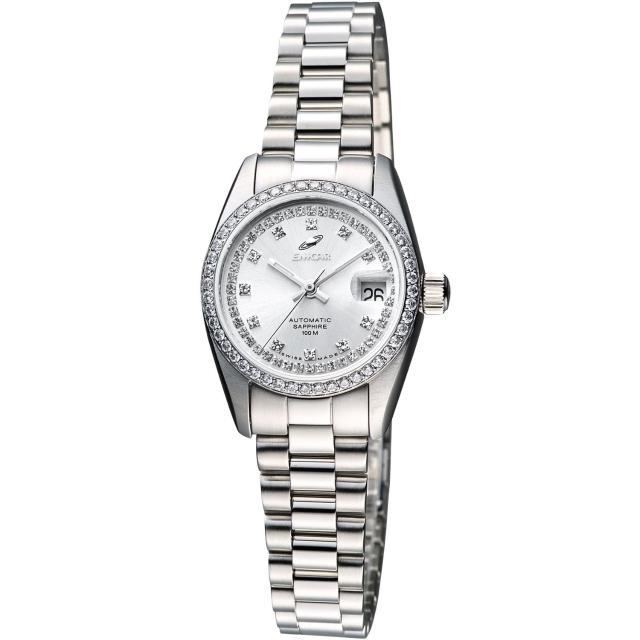 【ENICAR】自動系列恆動晶鑽機械女錶-銀/24mm(778-50-39aI)