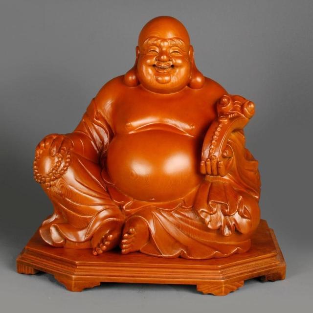 【荒木雕塑藝品】1.3尺 如意布袋佛(B款)