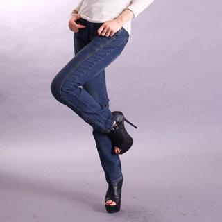 【RH】中腰復古藍真3D細身剪裁牛仔褲(修身復古藍色全尺寸S-3L)