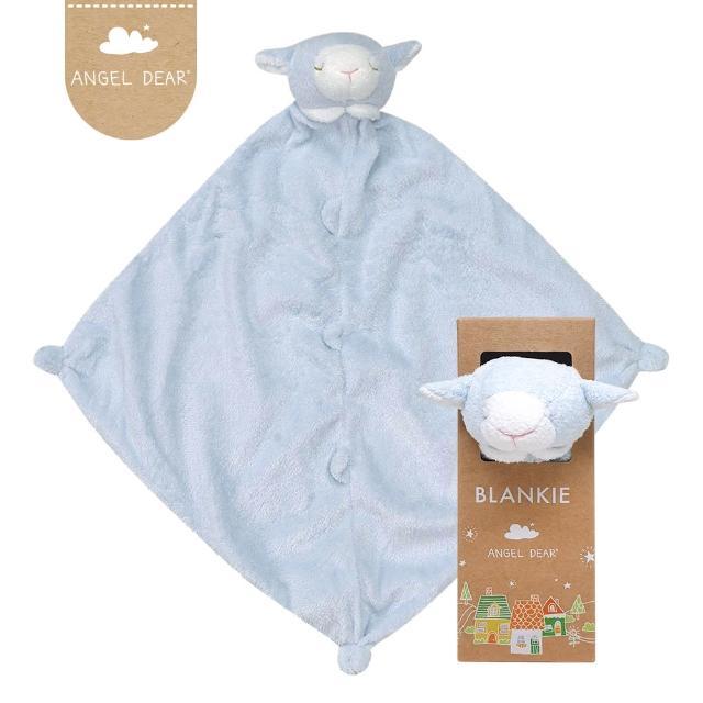 【美國 Angel Dear】動物嬰兒安撫巾(藍色小羊)