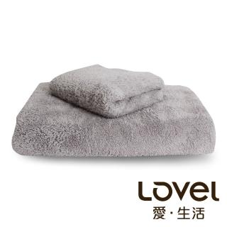 【Lovel】7倍強效吸水抗菌超細纖維浴巾/毛巾2件組(共9色)