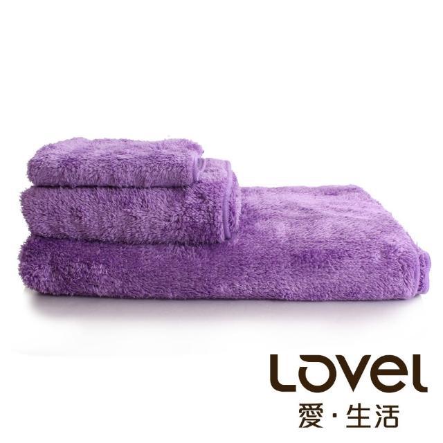 【Lovel】超強吸水輕柔微絲多層次開纖紗浴巾/毛巾/方巾3件組(共9色)