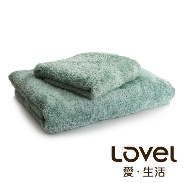 【Lovel】超強吸水輕柔微絲多層次開纖紗浴巾/毛巾2件組(共9色)/