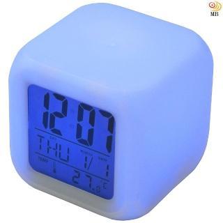 【月陽】七彩變色多功能萬年曆溫度計貪睡鬧鐘(CK-20)