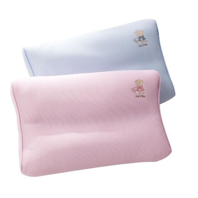 【奇哥】立體超透氣兒童枕(2色選擇)