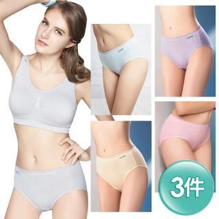 【思薇爾】柔感棉系列素面中腰褲3件組(隨機出貨)