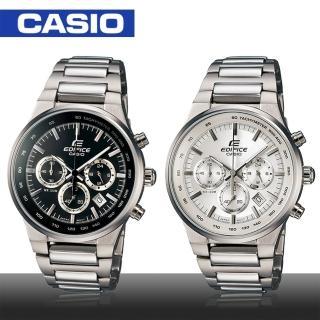 【CASIO 卡西歐 EDIFICE 系列】都會時尚三眼計時男錶 鏡面3.9cm(EF-500BP)