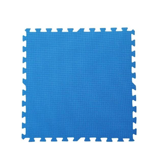 【新生活家】EVA運動安全地墊(藍色62x62x1.3cm12入)
