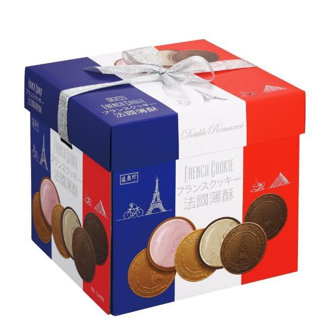 【盛香珍】法國酥禮盒450g-咖啡+草莓(每口味3小盒入共6盒)