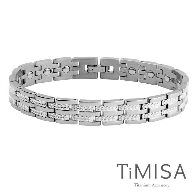 【TiMISA】豐收之歌-細版 純鈦鍺手鍊(雙色可選)
