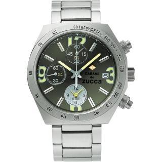 【CABANE de ZUCCA】奇幻新世界計時腕錶-綠/銀(7T62-0JY0D)