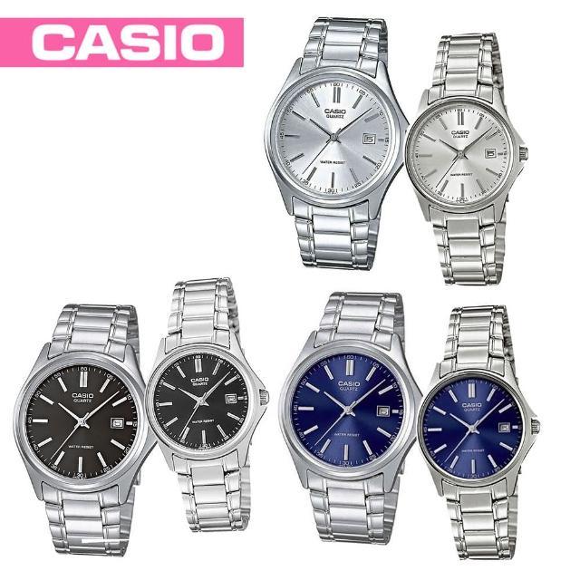 【CASIO 卡西歐】送禮首選-甜蜜情人對錶-(MTP-1183A+LTP-1183A)