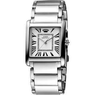 【Juicy Couture】Darby 羅馬時尚腕錶-白/銀/30mm(J1901056)