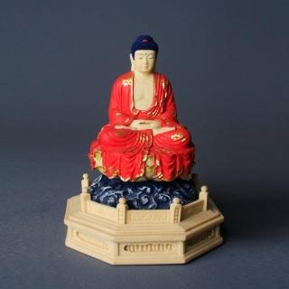 【MU LIFE 荒木雕塑藝品】FRP日式淡彩金釋迦佛(二)