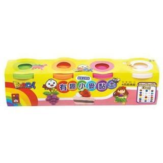 【風車圖書】有趣小麥黏土4色經典組-粉紅(Food超人)