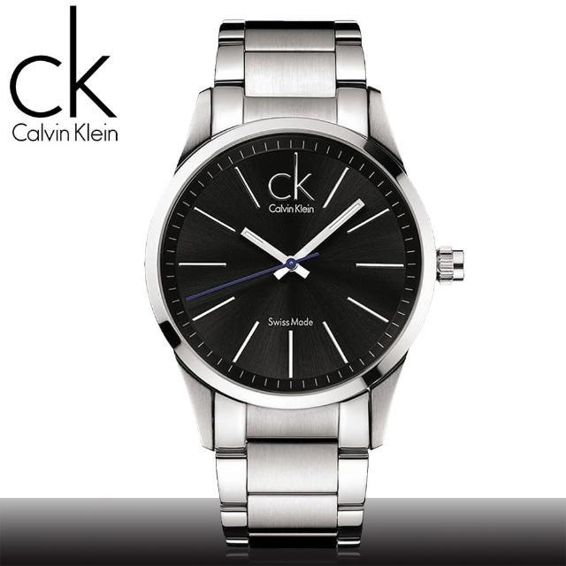 【瑞士 CK手錶 Calvin Klein】藍秒針經典款中性錶(K2241102)