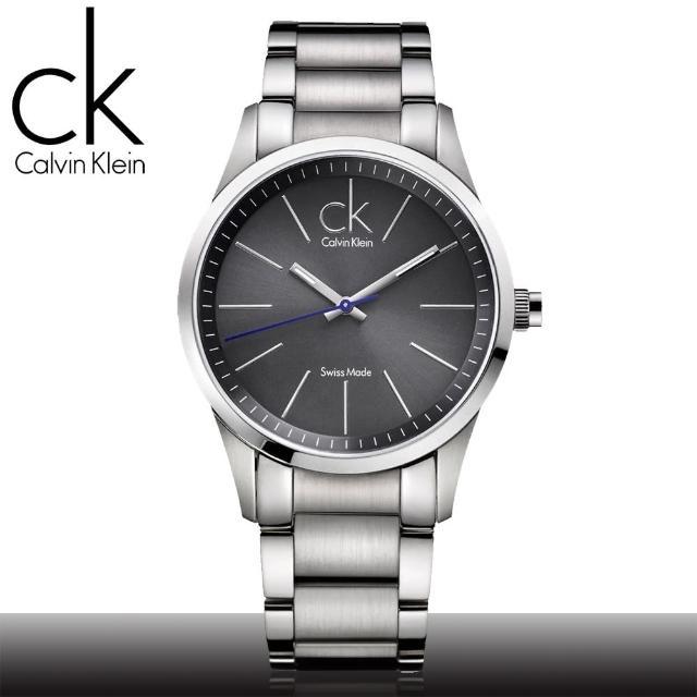 【瑞士 CK手錶 Calvin Klein】絕對經典款 鐵灰紳士男錶(K2241107)