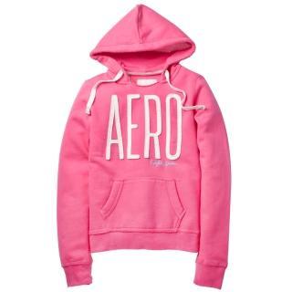【現貨Aeropostale】AERO 經典款 連帽口袋上衣(粉紅色)