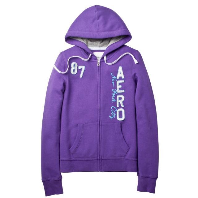 【現貨Aeropostale】紐約AERO 87街頭風 連帽外套(紫色)