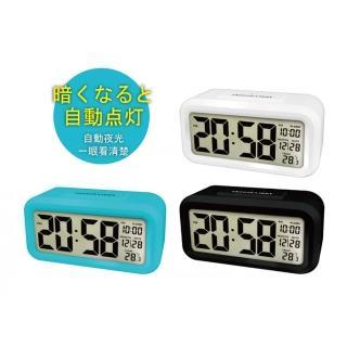 【KINYO】簡約普通型鏡面光控聰明鐘(TD-331)