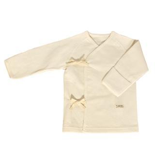 【azure canvas藍天畫布】100%有機棉﹝雙層棉系列﹞新生兒肚衣55-60cm/2件組(原米色)
