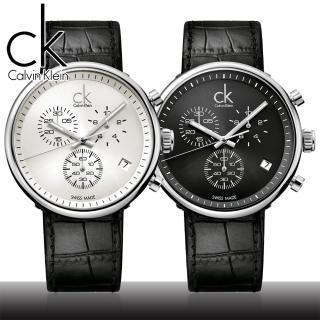 【瑞士 CK手錶 Calvin Klein】時尚流行-三眼腕錶(K2N281C1/K2N281C6)