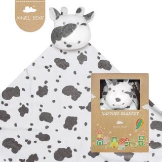 【美國 Angel Dear】大頭動物嬰兒毛毯禮盒(小乳牛)