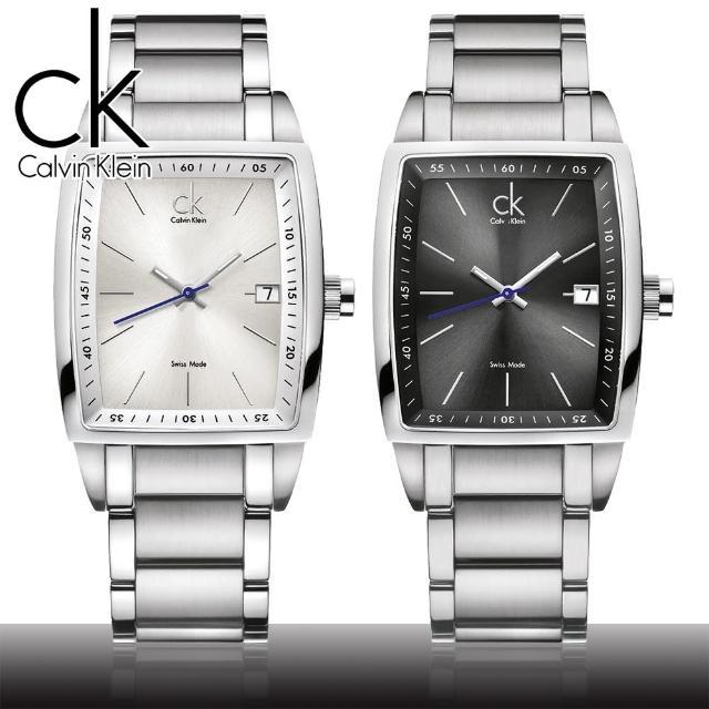 【瑞士 CK手錶 Calvin Klein】極簡銀刻酒桶型時尚腕錶(K3041126-K3041161)