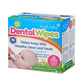 【英國brush baby】安心刷潔牙手指棉巾(28片單片包)