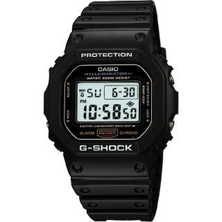 【CASIO】G-SHOCK 經典DW-5600系列電子腕錶-黑/42mm(DW-5600E-1)