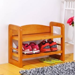 【BuyJm】全實木坐式穿鞋椅/萬用架