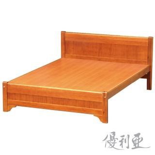 【優利亞-古道簡約】雙人5尺實木床架(不含床墊)