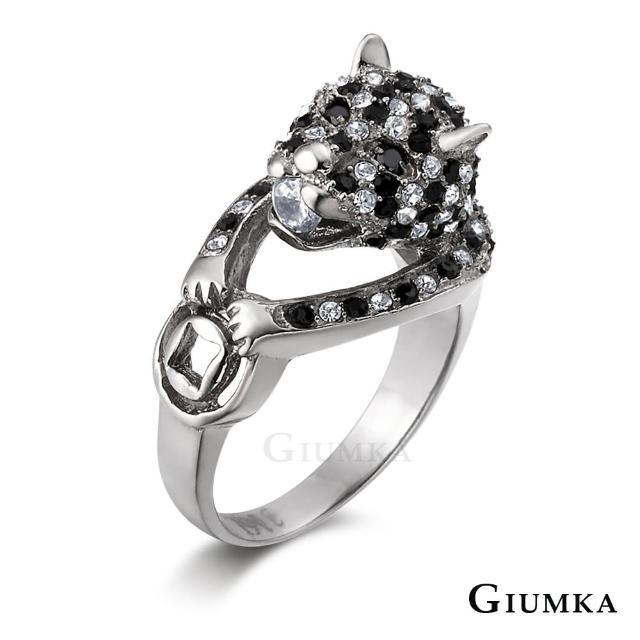 【GIUMKA】情侶對戒 招財金錢豹 白鋼情人戒指 MR00426-1F(銀色)