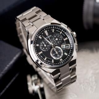 【CITIZEN 星辰】Eco-Drive 鈦 黑暗騎士電波光動能時尚腕錶(黑-BY0070-51E)