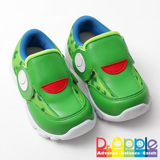【Dr. Apple 機能童鞋】俏皮繽紛動物造型透氣童鞋(綠)