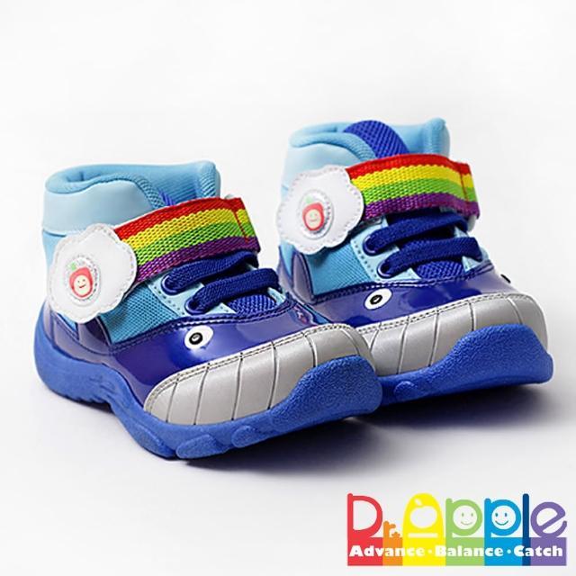 【Dr. Apple 機能童鞋】可愛小鯨魚造型透氣童鞋(藍)