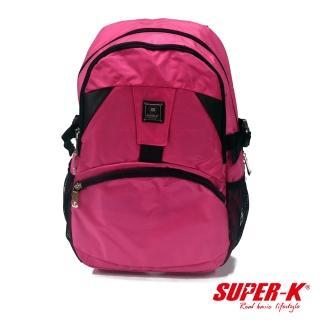 【酷博士】SUPER-K休閒後背包-SHB21631(玫紅色)