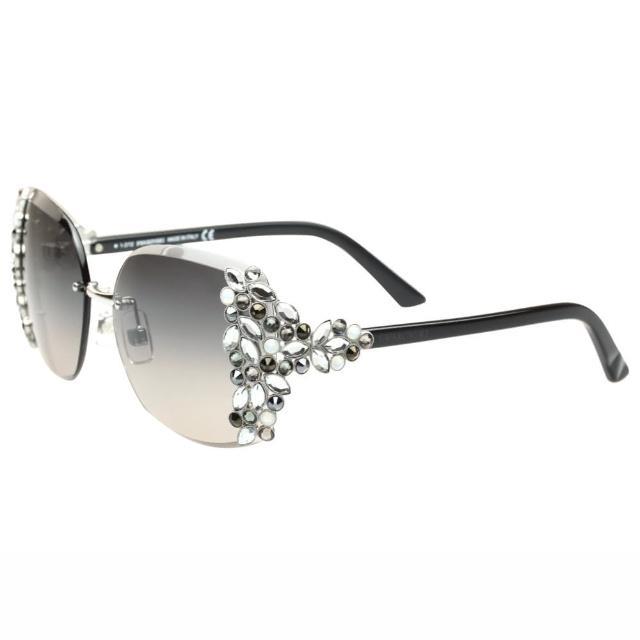 【SWAROVSKI】-時尚太陽眼鏡(銀色)