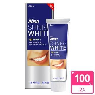 【韓國2080】三重美白修護牙膏(100gX2入)