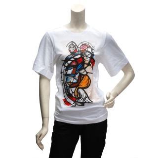 【BALENCIAGA】塗鴉風格短袖T恤(女-294291-1000)