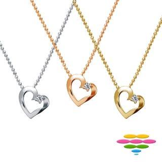 【彩糖鑽工坊】心有獨鍾系列 鑽石項鍊