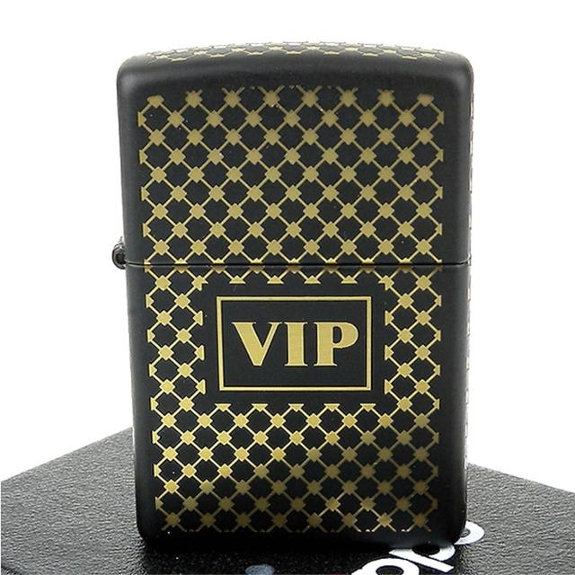 【ZIPPO】美系-VIP-金色編織圖案五面加工打火機
