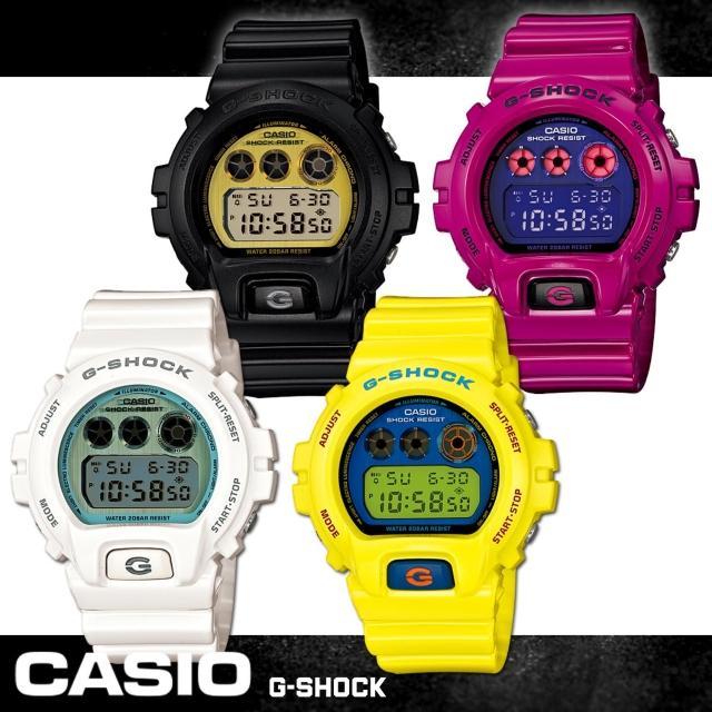 【CASIO 卡西歐 G-SHOCK 系列】亮眼街頭塗鴉時尚運動錶(DW-6900PL)