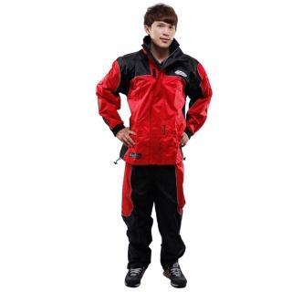 天龍牌 新重裝上陣F1機車型風雨衣- 紅色 +通用鞋套