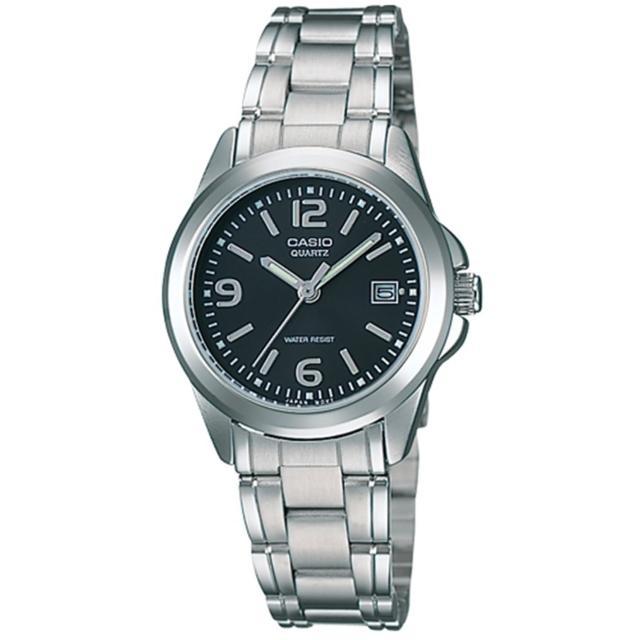 【CASIO 卡西歐】都會簡約風格數字指針錶(黑-LTP-1215A-1ADF)